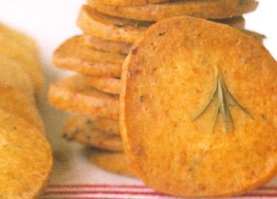Parmesan Rosemary Icebox Crackers