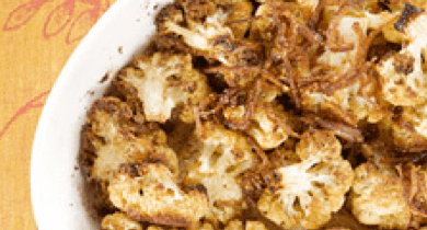 Cardamon-Roasted Cauliflower