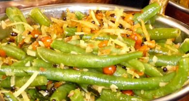 Stir Fried Green Beans with Coconut